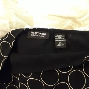 NEW YORK AND COMPANY Skirts - NEW YORK & CO. BLACK & IVORY POKA DOT SKIRT & TOP